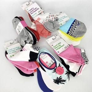WOW New 6 Packs=21 Pairs HUE Womens Socks